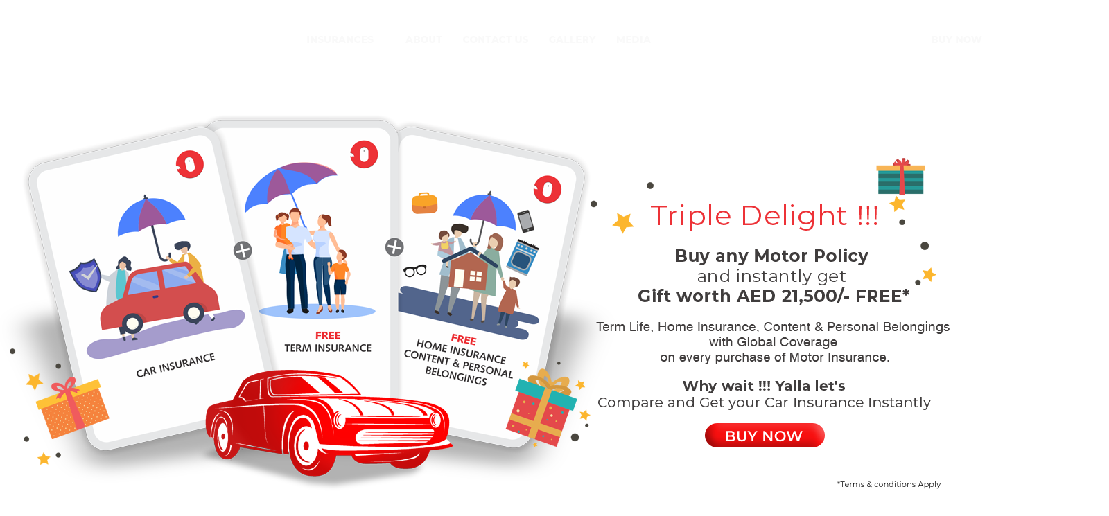 Triple Delight-Yalla Let's Compare and get your car insurance instantly-InsureAtOasis
